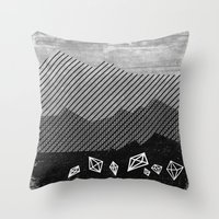 mineral Throw Pillows featuring Mineral by Jenny Tiffany