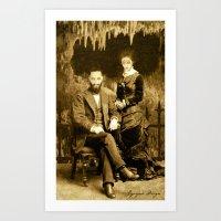 Dark Victorian Portrait Series: Hades and Persephone Art Print