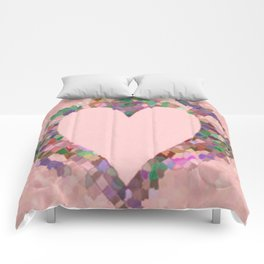 Old Fashioned Pink Heart Comforters
