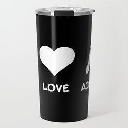 Peace, Love, Airedale Travel Mug