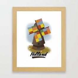 Holland travel poster Framed Art Print