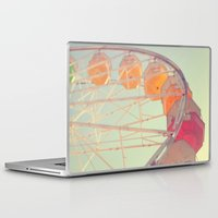 ferris wheel Laptop & iPad Skins featuring ferris wheel by shannonblue