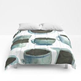 coffees watercolor Comforters
