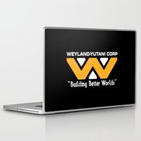 prometheus Laptop & iPad Skins featuring Weyland-Yutani Corporation by IIIIHiveIIII