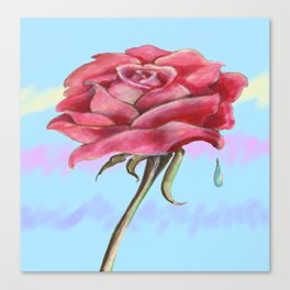 Blue Sky Rose Canvas Print