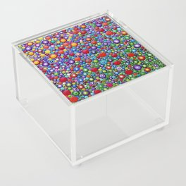 Colorful Dotart by Mandalaole - Spring flowers Acrylic Box