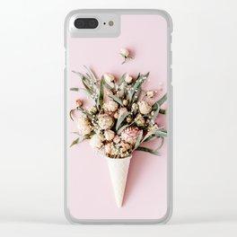 Botanic Ice cream Clear iPhone Case