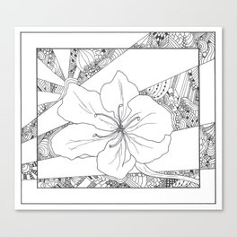 Cali Flower Canvas Print