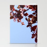 cherry blossom Stationery Cards featuring Cherry Blossom by madbiffymorghulis