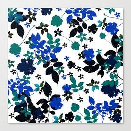 cobalt leaves Canvas Print