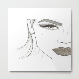 Happy Lips. Metal Print