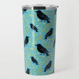 Blackbird and Foliage III Travel Mug