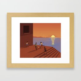 Dreaming the World Cup Framed Art Print