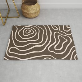 Topographic Map / Brown & Nude Rug
