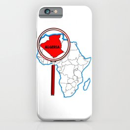 Algeria Under The Magnifying Glass iPhone Case