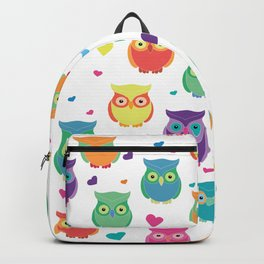 Rainbow Owl Cuties Backpack