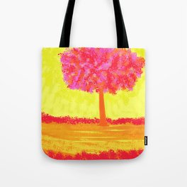 Pink  Tree Tote Bag