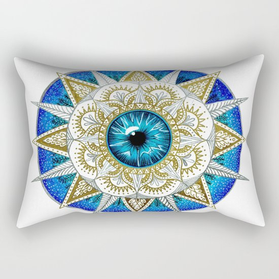 Eye Mandala Rectangular Pillow