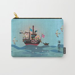 Sea Lover Retro Japanese illustration Carry-All Pouch