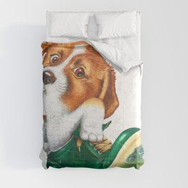 A little dog in a spike Comforters