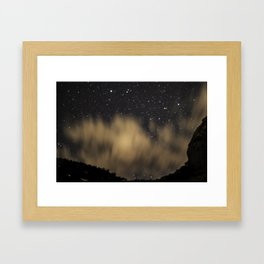 Moving Clouds Colorado National Monument Grand Junction, CO Framed Art Print