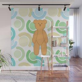 Tedy Bear Bonanza - Green Wall Mural