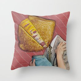 Grilled Cheese Love No. 28 Throw Pillow