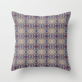 Blue and Brown Elegant Abstract Throw Pillow