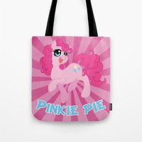 mlp Tote Bags featuring MLP FiM: Pinkie Pie by Yiji