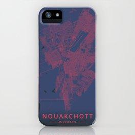 Nouakchott, Mauritania - Neon iPhone Case