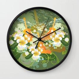 Tropical guitar Wall Clock
