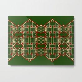 Weave on green background-2 Metal Print