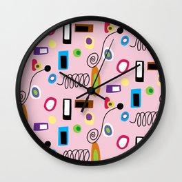 Mod Abstract Pink Wall Clock