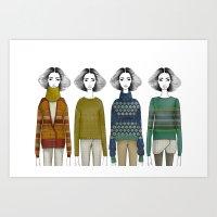 Jacquard Girls Art Print