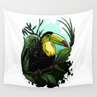 toucan Wall Tapestries featuring Toucan by Adamzworld