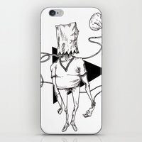 tote bag iPhone & iPod Skins featuring Bag by Hopler Art