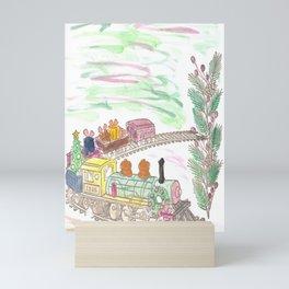 Toy Christmas Train Mini Art Print