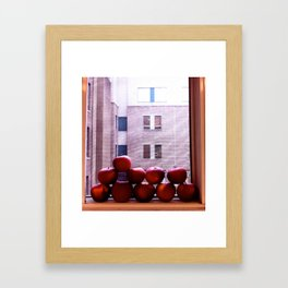 Sweet Delicious Awesome Apples  Framed Art Print