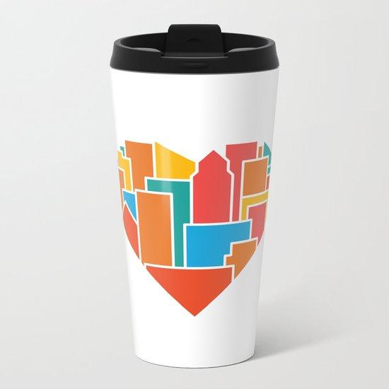 Livin' for the City Metal Travel Mug