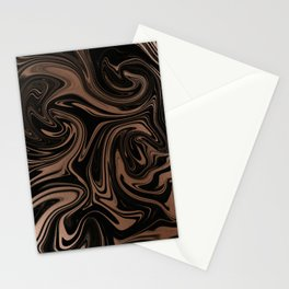 Black & Rose Gold Marble Stationery Cards