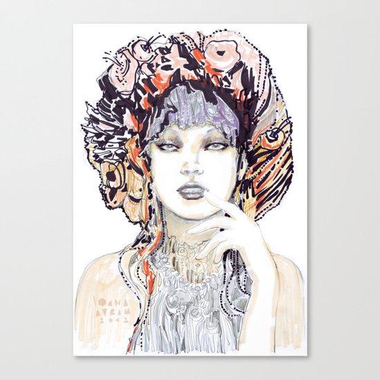 Spring fashion portrait Canvas Print