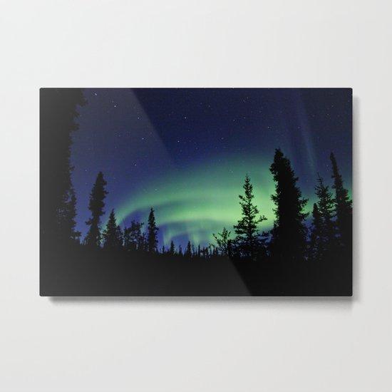 Aurora Borealis Landscape Metal Print