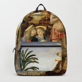 "Andrea del Verrocchio, Leonardo da Vinci ""Baptism of Christ"" Backpack"