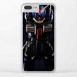 Blue Gundam in the Dark Clear iPhone Case