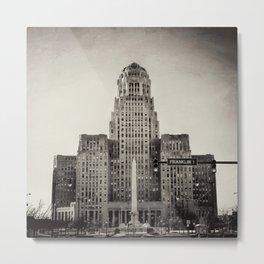 Down Town Buffalo NY city hall Metal Print