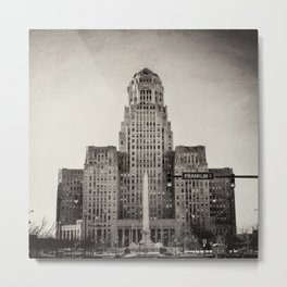 Down Town Buffalo NY city hall Metal Print