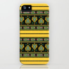 Persian Tapestry Yellow iPhone Case