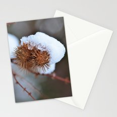 Snowy Burrs Stationery Cards