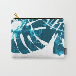 Monstera Leaf Blue Carry-All Pouch