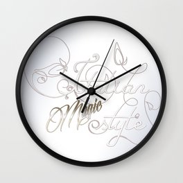 Italian Magic Style Wall Clock